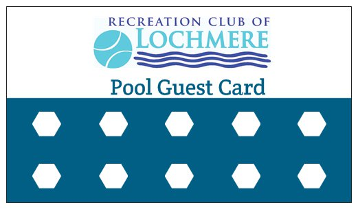 Pre-Paid Pool Guest Cards